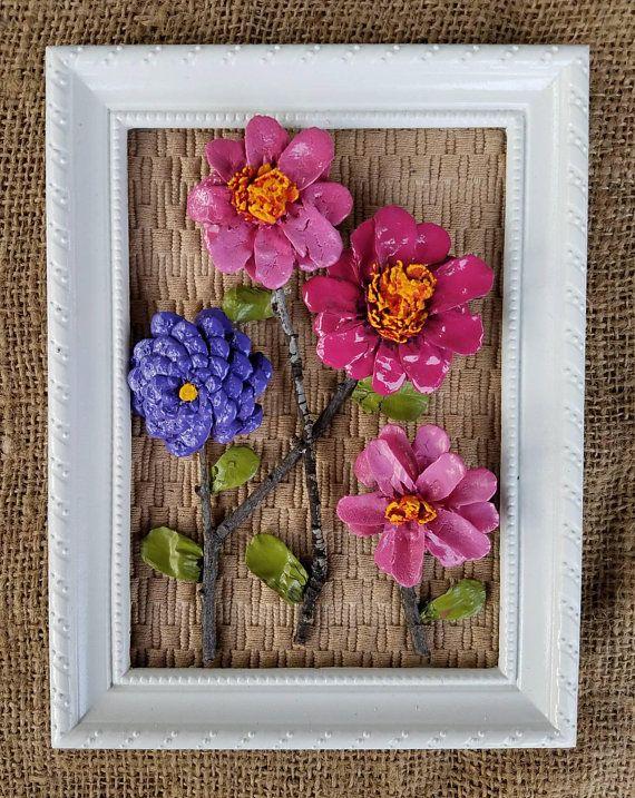 Mano ein Mano de Flores de Piña! Esta pieza es una mezcla de rosas y el morado. C …
