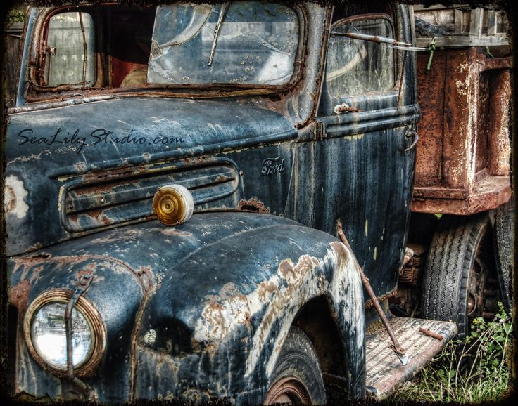 Route 66 11x14  old truck photography relic door SeaLilyStudio.