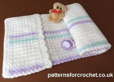 Free Pam Cover crochet pattern from http://patternsforcrochet.co.uk/pram-cover-usa.html #freeblanketcrochetpatterns