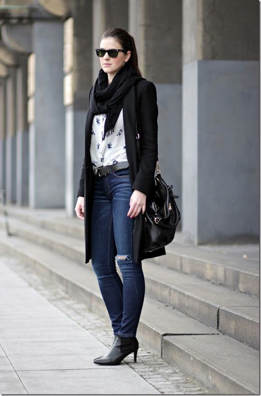 Zara black coat