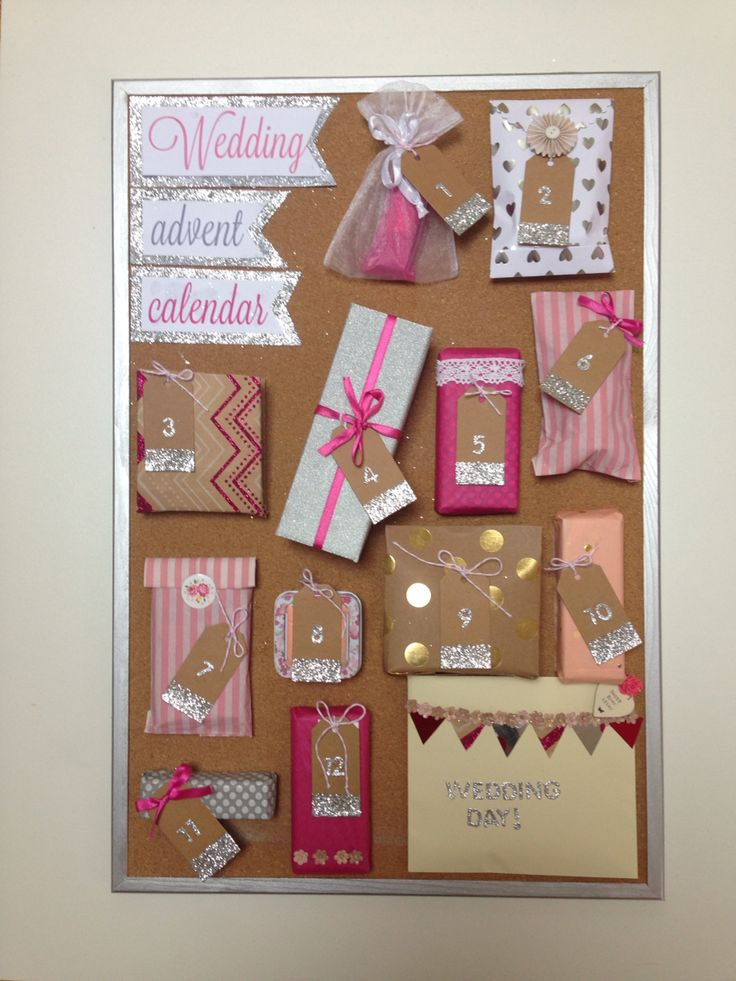 Wedding advent calendar