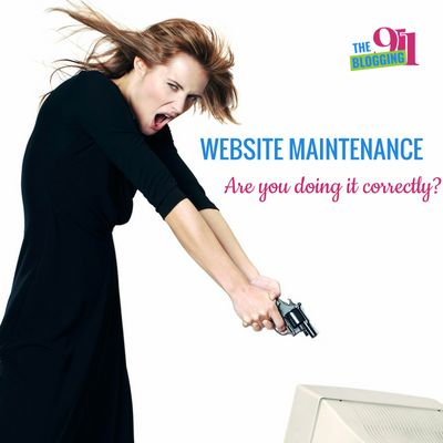 Website Maintenance Are You Doing It Correctly?   I talk about website maintenance ALL OF THE TIME! Why? Because I spend A LOT of time fixing things that could have easily been avoided with proper website maintenance. This got me thinking...I now you love … https://theblogging911.com/website-maintenance-correctly/