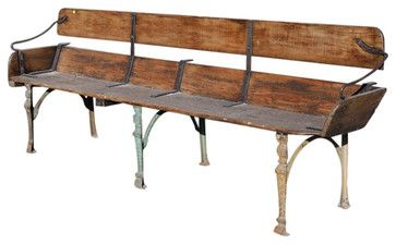 Antique Buckboard Wagon Dining Bench Seat - traditional - dining ...