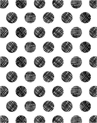 Black and white scribbled polka dot pattern #spot #circle #geo
