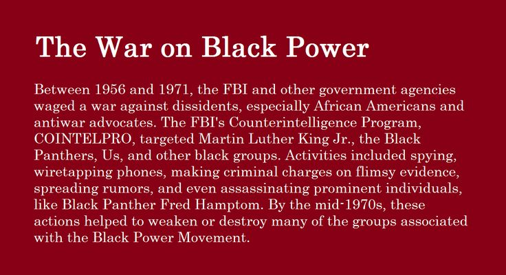 black power the catalyst of change for african americans Are headed by african americans,  are less black, too the proportion of african americans directors was  had purchasing power of $12.