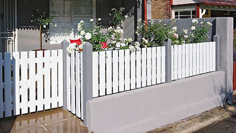 How to make a picket fence: Build a classy picket fence for an amazing front of house makeover.