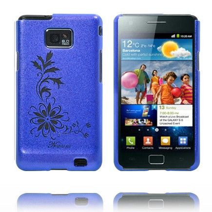 Kromi Kukka (Sininen) Samsung Galaxy S2 Suojakuori