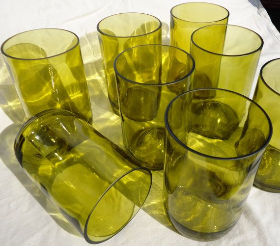 Upcycled Wine Bottle Glasses made from by ConversationGlass, $68.00