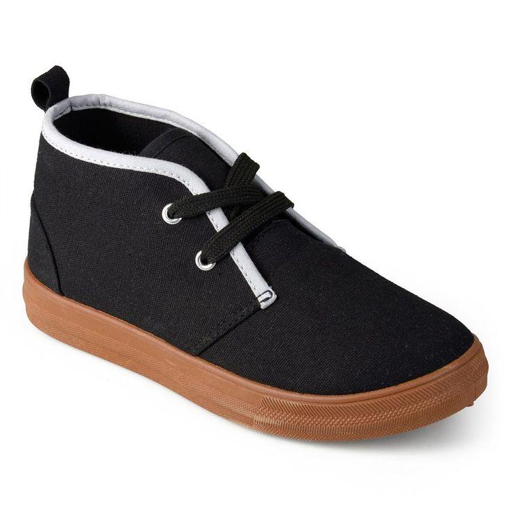 Journee Zyon Boys' Chukka Sneakers, Size: 10 T, Black