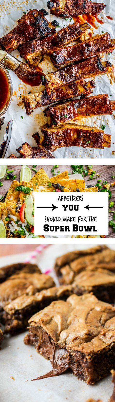 Super Bowl Appetizers and Desserts from The Food Charlatan. All the appetizer and party recipes you need to have an awesome time at the Super Bowl this weekend! Tons of appetizer, dessert, slow cooker, and carb-y cheesy ideas. You know you want it!