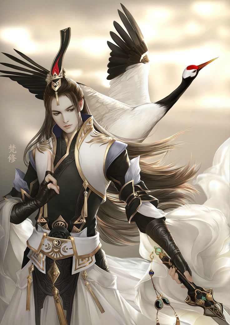 Crane bird character design