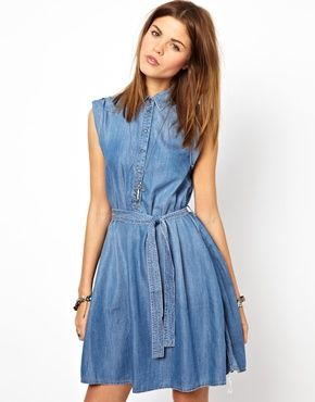 Image 1 of Diesel Denim Shirt Dress