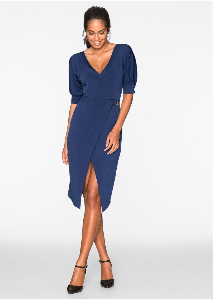 Pekné šaty od BODYFLIRT. S moderným výstrihom do V a s polovičnými rukávmi. S peknými aplikáciami vo výške pása. Sukňa je v peknom zavinovacom vzhľade. Dĺžka 104 cm vo veľ. 36/38. Vrchný materiál: 95% polyester, 5% elastan