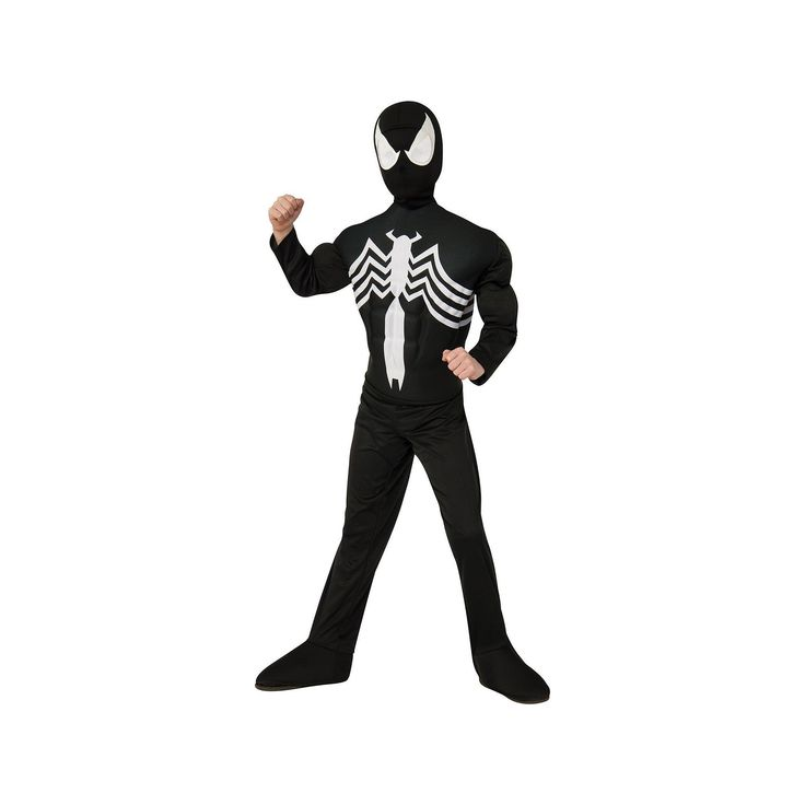 The Ultimate Spider-Man Venom Costume - Kids, Size: 12-14, Black