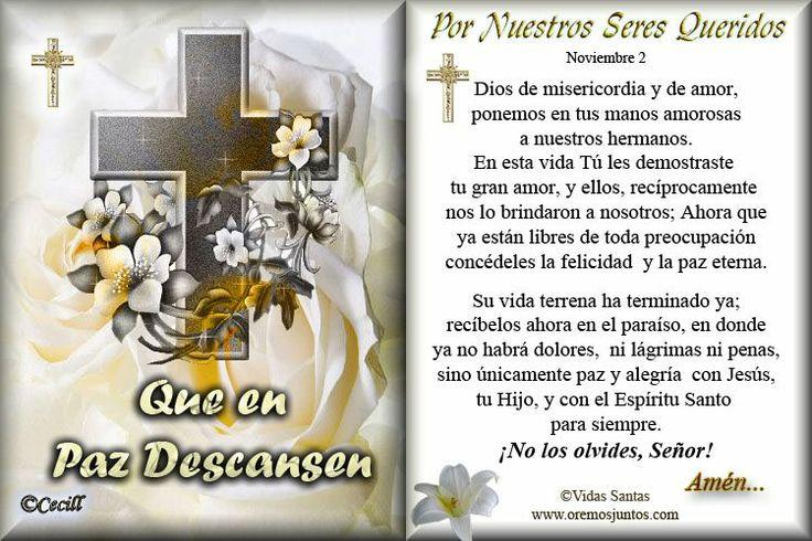 Tarjeta para Difuntos/Recordatorios   Oraciones Dios   Pinterest