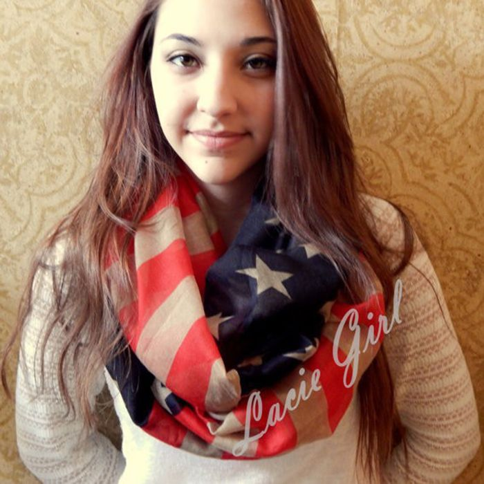 2017 New Fashion Vintage American Flag Infinity Ring Scarfs Snood USA Scarves Thin Shawls For Women /Girls