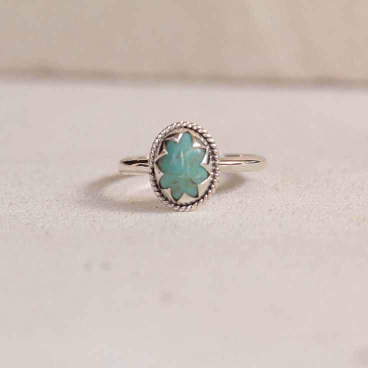 Natural Turquoise Star ring in Solid 925 Sterling Silver – donbiujewelry