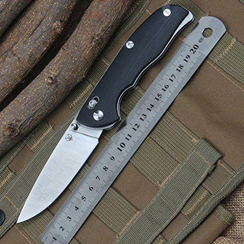 Shirogorov Tabargan95折りたたみ式ブレードナイフD2ブレードG10軸システムアウトドアキャンプ狩猟サバイバルナイフEDCツールハンドル