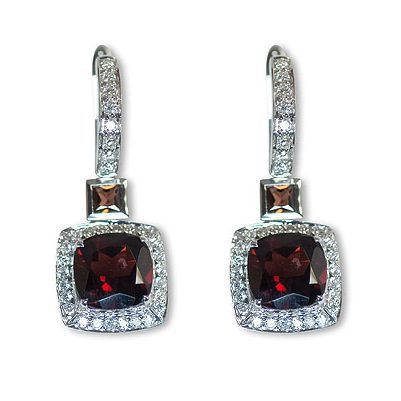 Here's yet another charming color gemstone earrings - Parris Jewelers, Hattiesburg, MS #finejewelry