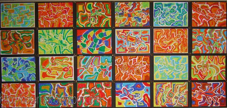 Kids Artists: Searching for the chameleon. Art activity about camouflage
