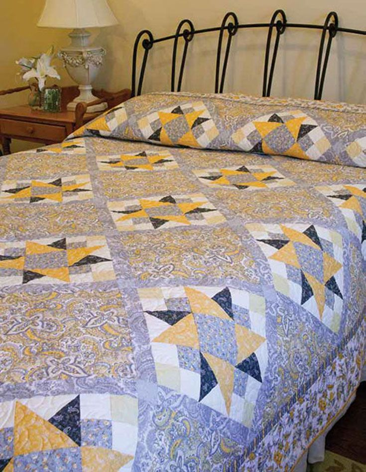 update a bedroom with an ontrend color palette and this pretty queen size quilt