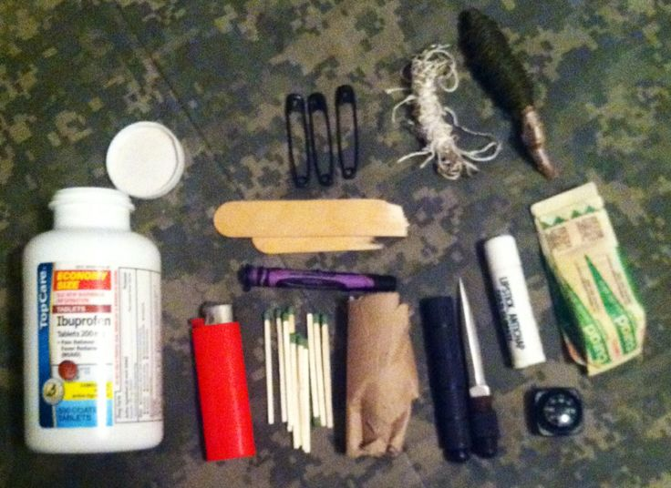 Survival Kit Using A Plastic Pill Bottle Survival