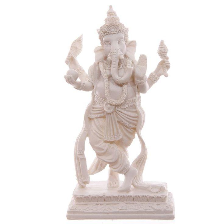 Decorative White Standing Ganesh Figurine