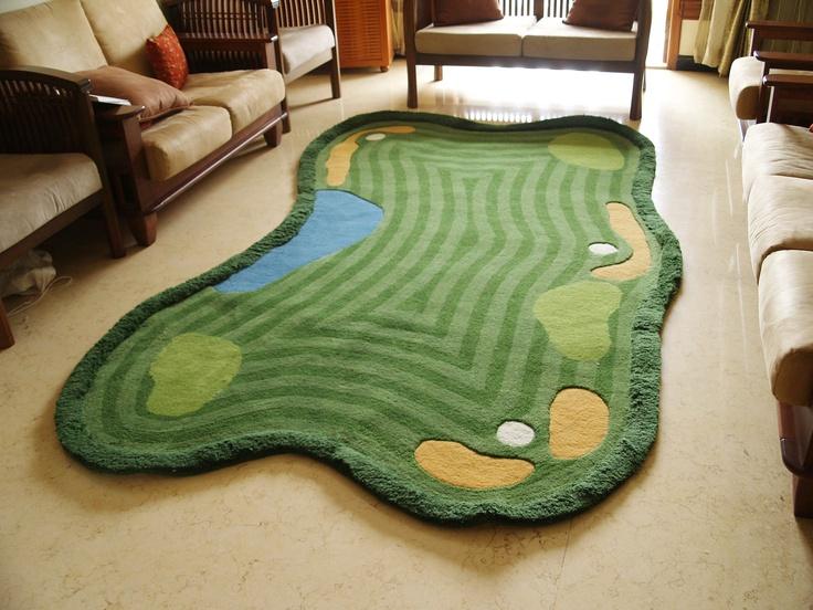 Handtufted Woolen Golf Rug Golf Art Golf Fashion