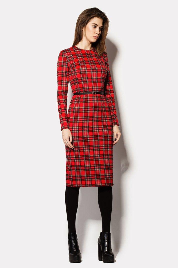 Купить деловое платье FLORIAN с поясом в комплекте в брендовом бутике TM CARDO в брендовом бутике TM CARDO