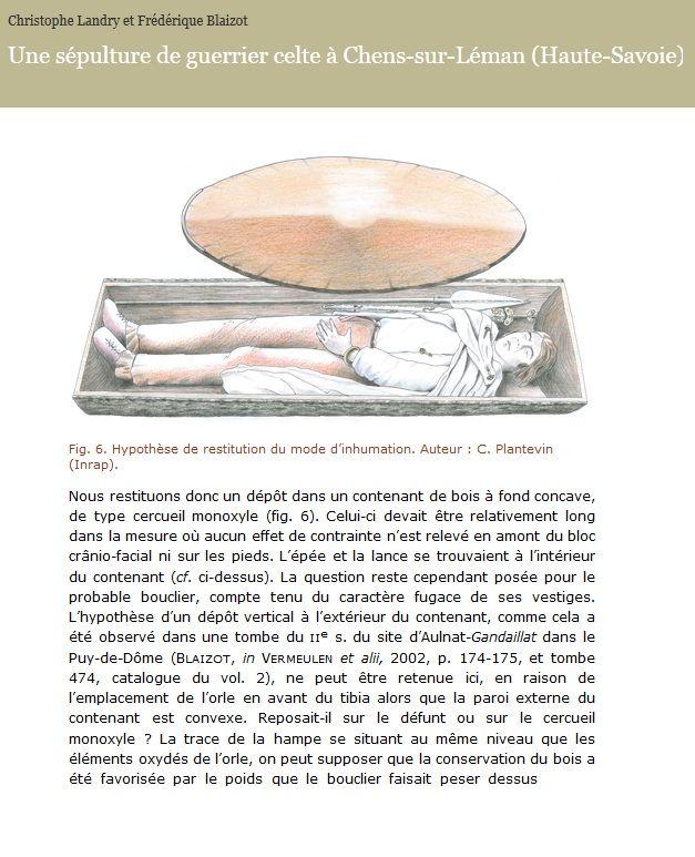 Une  sépulture d'un Guerrier Celte découverte en Haute-Savoie, Cliquez sur l'image pour en savoir plus !
