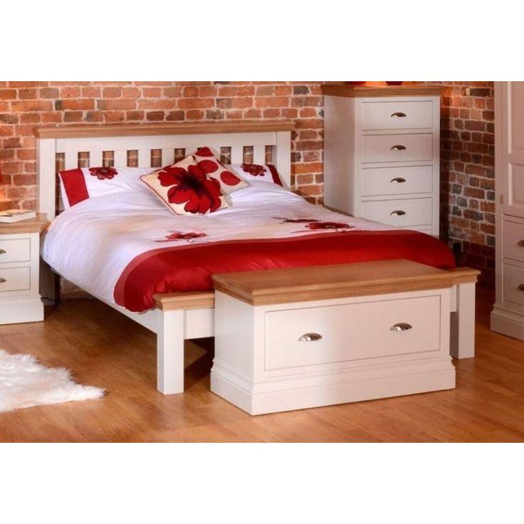 Łóżko drewniane białe - Acer