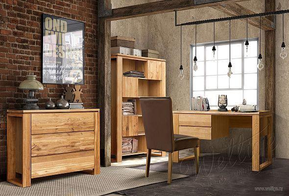 Мебель Кабинеты в стиле Лофт от Wellige   Спальни, детские, гостиные, кухни, библиотеки из массива дуба