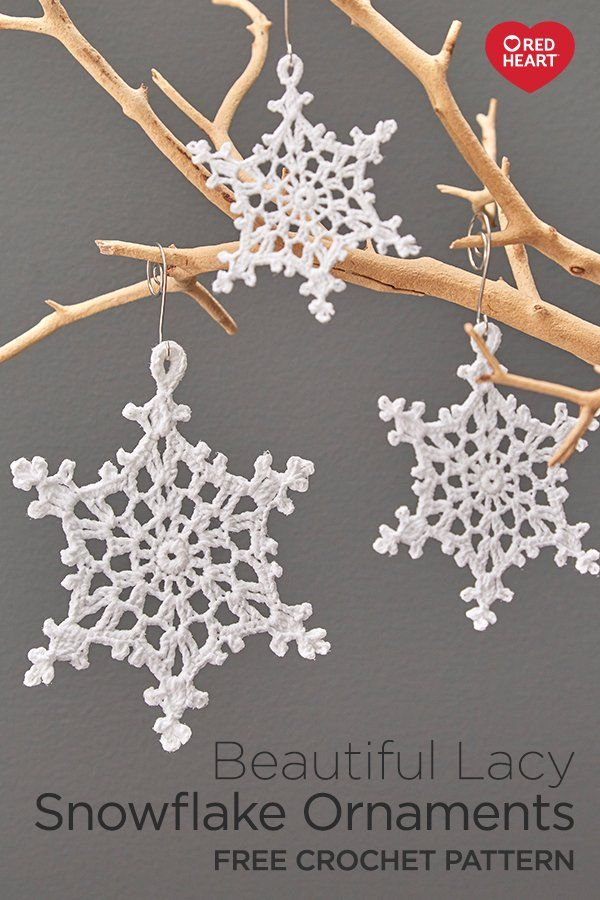 Beautiful Lacy Snowflake Ornaments Free Crochet Pattern In Aunt Lydia S Size Crochet Christmas Snowflakes Crochet Snowflake Pattern Crochet Christmas Ornaments