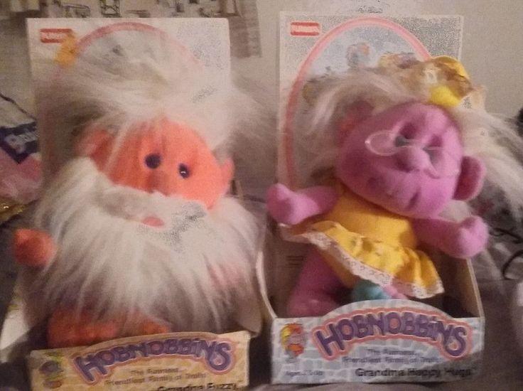 Lot of 2 NOS vtg Hobnobbins Plush -Grandpa Fuzzy & Grandma Happy Hugs PlaySkool #Playskool