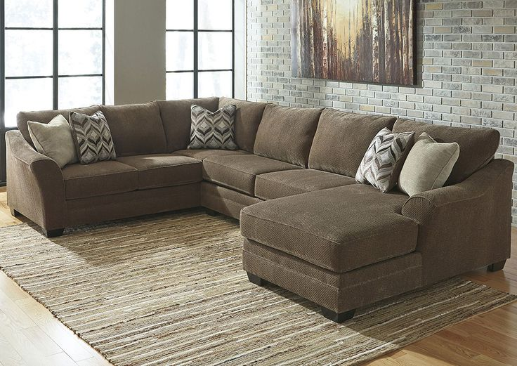 Furniture City - Fresno CA Justyna Teak Sectional w/Right Facing Corner Chaise : sectional sofas fresno ca - Sectionals, Sofas & Couches