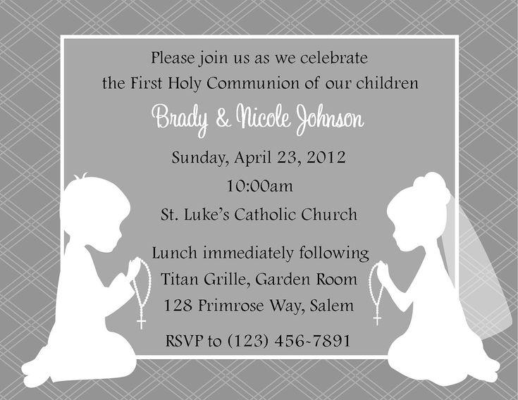 First Communion Invitation - Twins  .