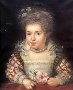 1611 Frans Pourbus the Younger - Queen Henrietta Maria as a child