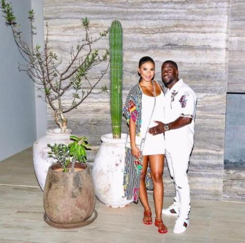 Kevin Hart and pregnant wife Eniko Parrish shared photos from Mexico after the actor was spotted with an unknown woman in Miami Beach.