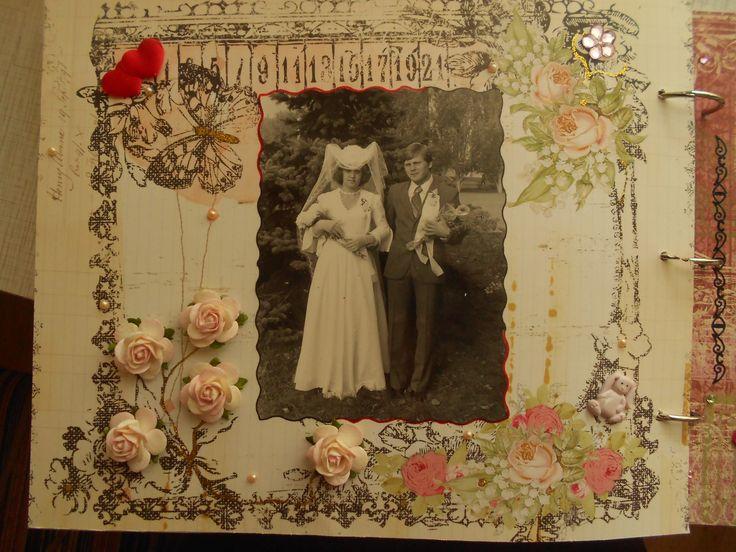 Блог | Работы читателей | в подарок родителям на годовщину свадьбы сделала свой первый альбом