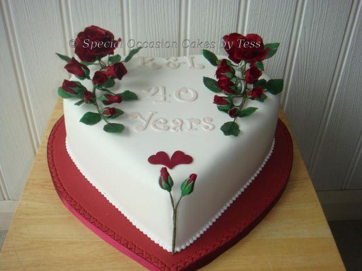 Ruby Wedding Anniversary Cake Ideas: Ruby Anniversary Cake