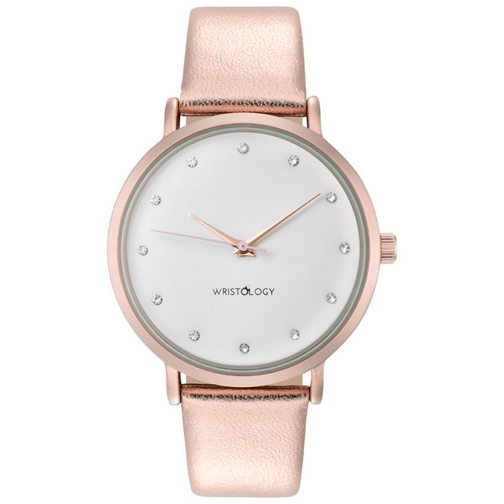Wristology Olivia Ladies Rose Gold Watch Strap White Dial Face Leather Chunky Boyfriend Wristwatch Women
