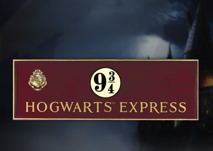 Harry Potter Wooden Sign Hogwarts Express | Potterhead ...