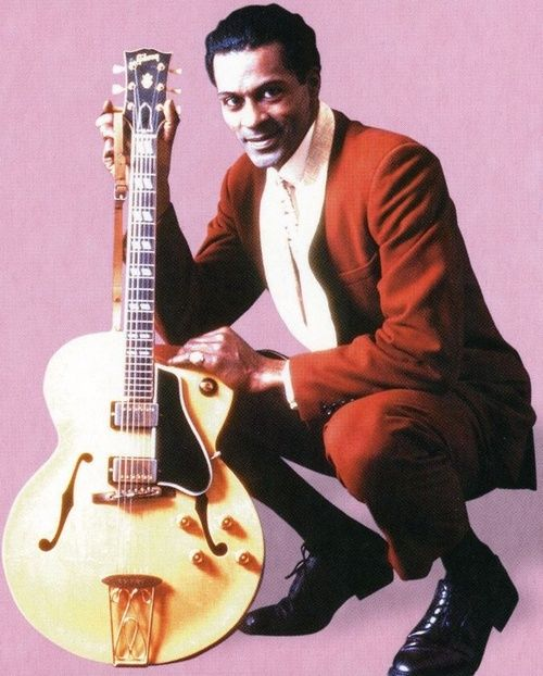 Chuck Berry & his Guitar He still plays in the Duck Room @ Blueberry Hill in St. Louis!