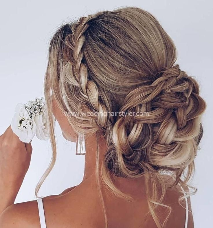 25 updos wedding hairstyles for long hair, we love a romantic wedding ... #hochsteckfrisuren #hochze #hochzeitsfrisuren # long ...