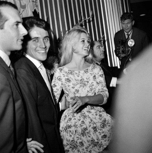 Brigitte Bardot & boyfriend Sacha Distel, 1958