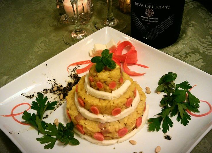 Wedding Cake Risotto Da Mario: Risotto made with saffron, white wine ...