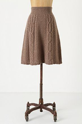 <3 Flowing Cables Sweater Skirt
