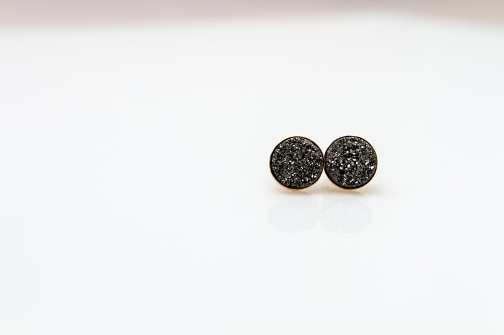 Small Roxy Studs in Charcoal