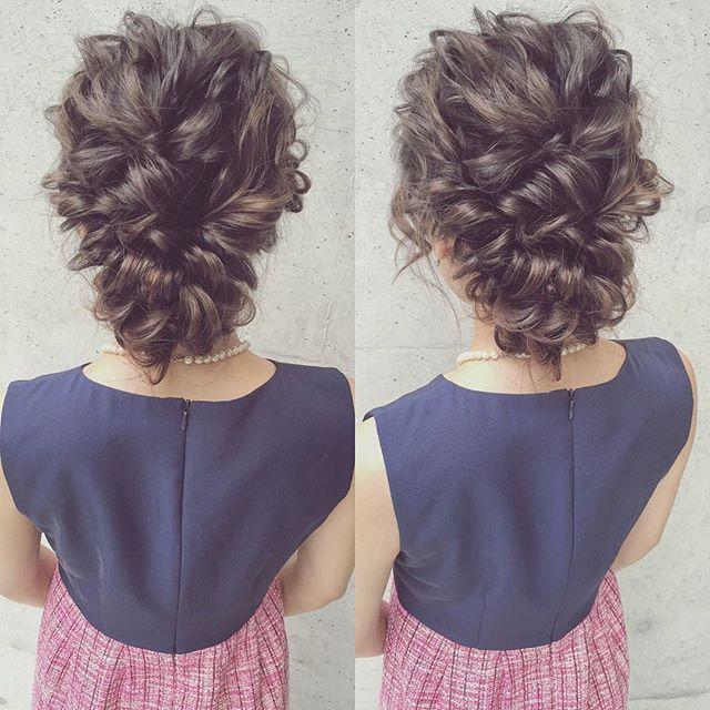#お呼ばれ #ブライダルヘア #ウェディングドレス #ウェディング #プレ花嫁