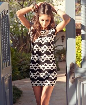 Tribal print dress. Confortável e simpático ;D